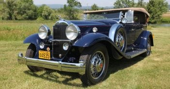 The mildly Vee-shaped grille is probably the grille most associated with Packard.