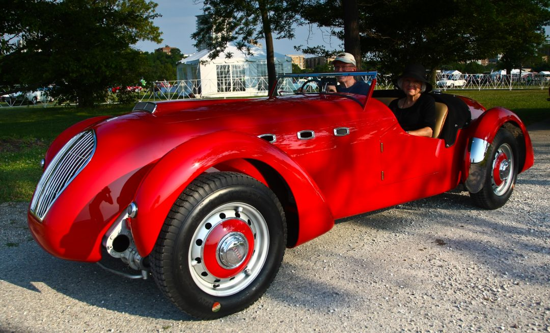 1950 Healey Silverstone Roadster - Kathryn and Davis Hans - Barrington, IL j r schabowski