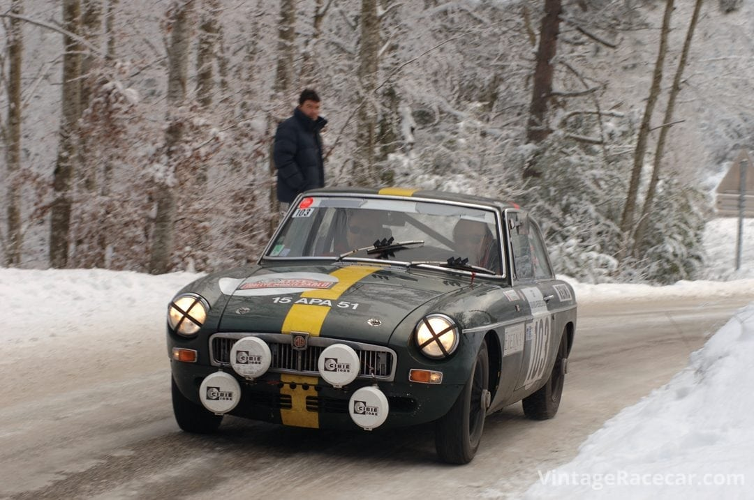 De Montremy and Rousille in their MGB GT.Photo: Peter Collins