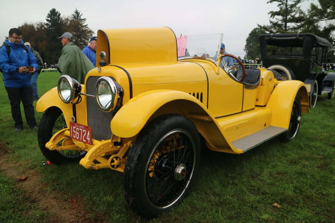 1920 Mercer Raceabout in yellow - too cool for words.