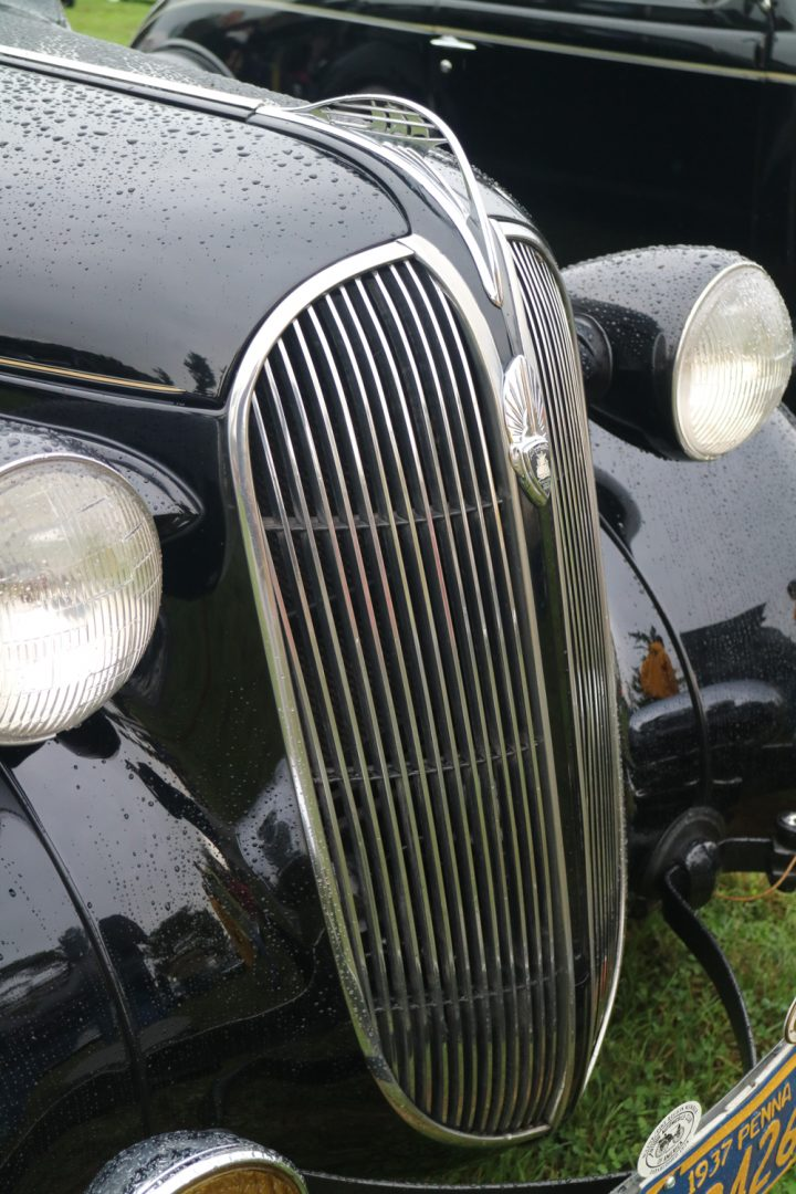 Waterfall grilles are just the best.  This one is on a 1937 Plymouth P4