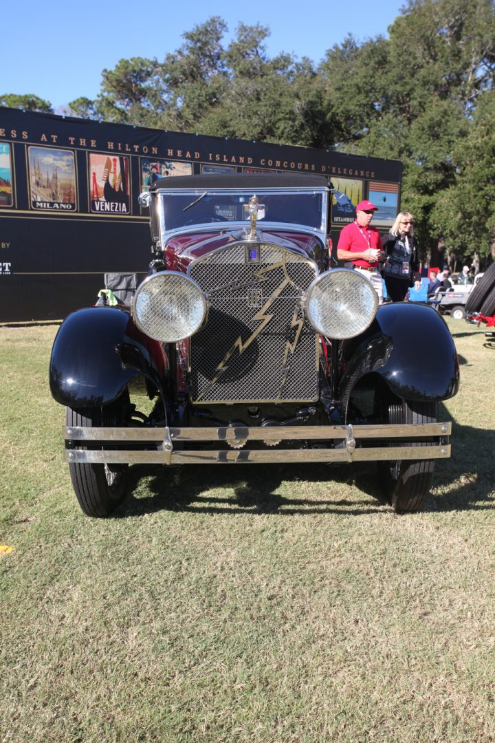 Rare lightning on this 1928 Isotta Fraschini Tipo 8A SS Boattail Speedster.