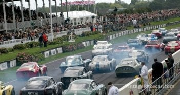 Action-packed RAC TT Celebration race gets underway. Photo: Keith Booker