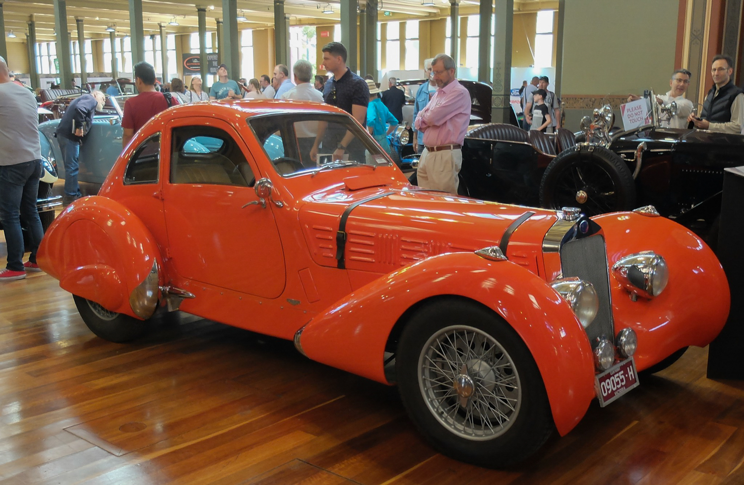 Art Deco indeed this 1936 Delage D6-70 competition coupe'.
