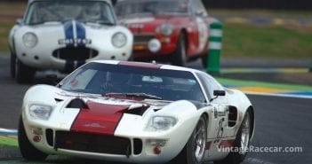 The GT40 of Adrian Newey prior to its devastating crash.Photo: Peter Collins