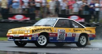 Russell Brookes and the Opel Manta 400.