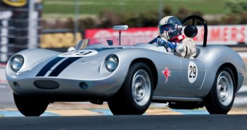Don Tavini in his 1959 Devin D at turn 3A.