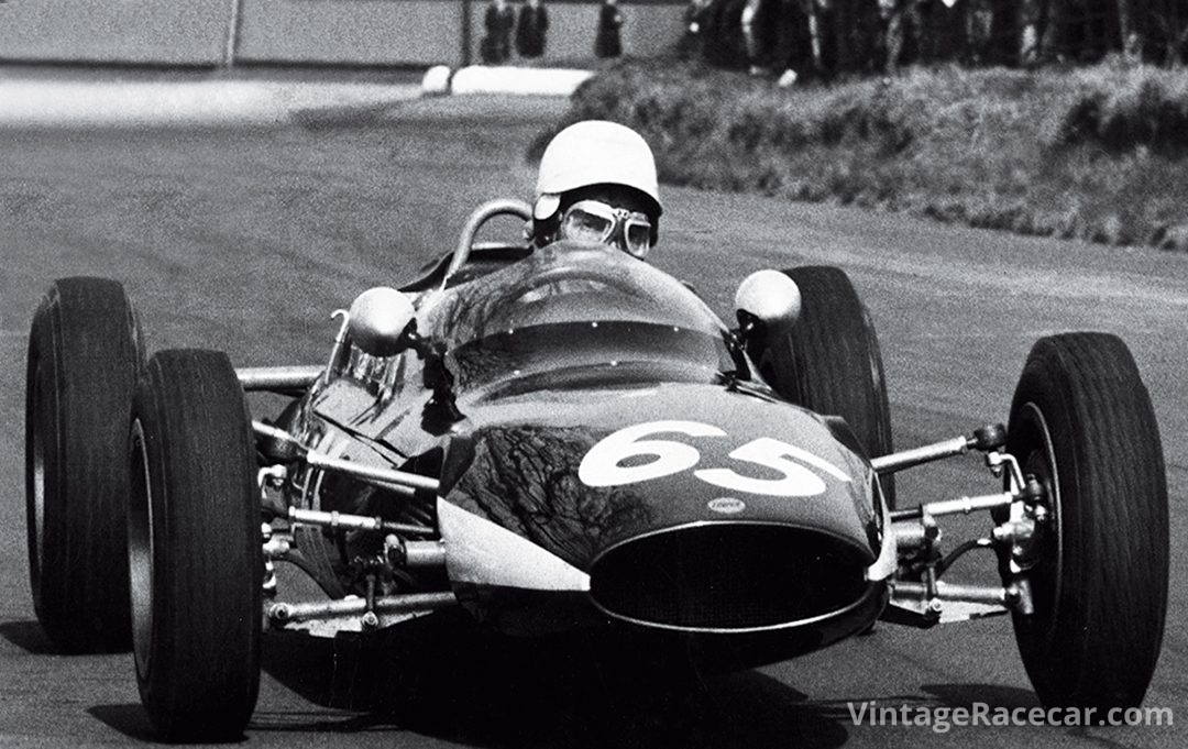 John Rhodes in a Cooper F.Jr. at Mallory Park in 1963. Photo: John Rhodes
