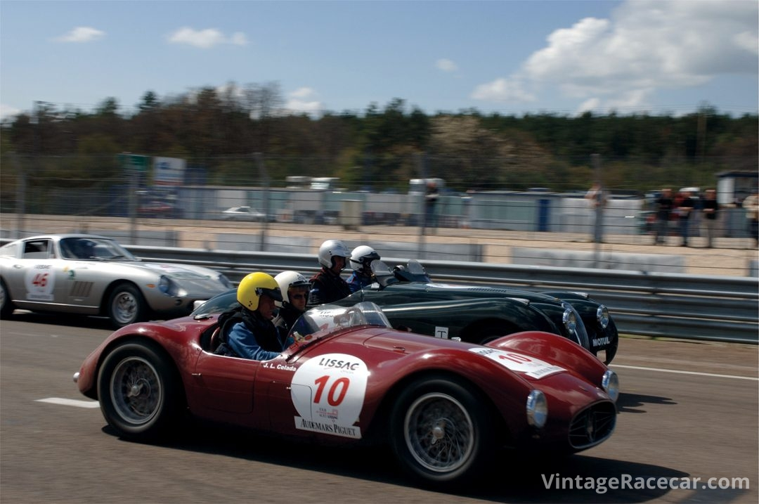 Track action at Dijon.Photo: Peter Collins