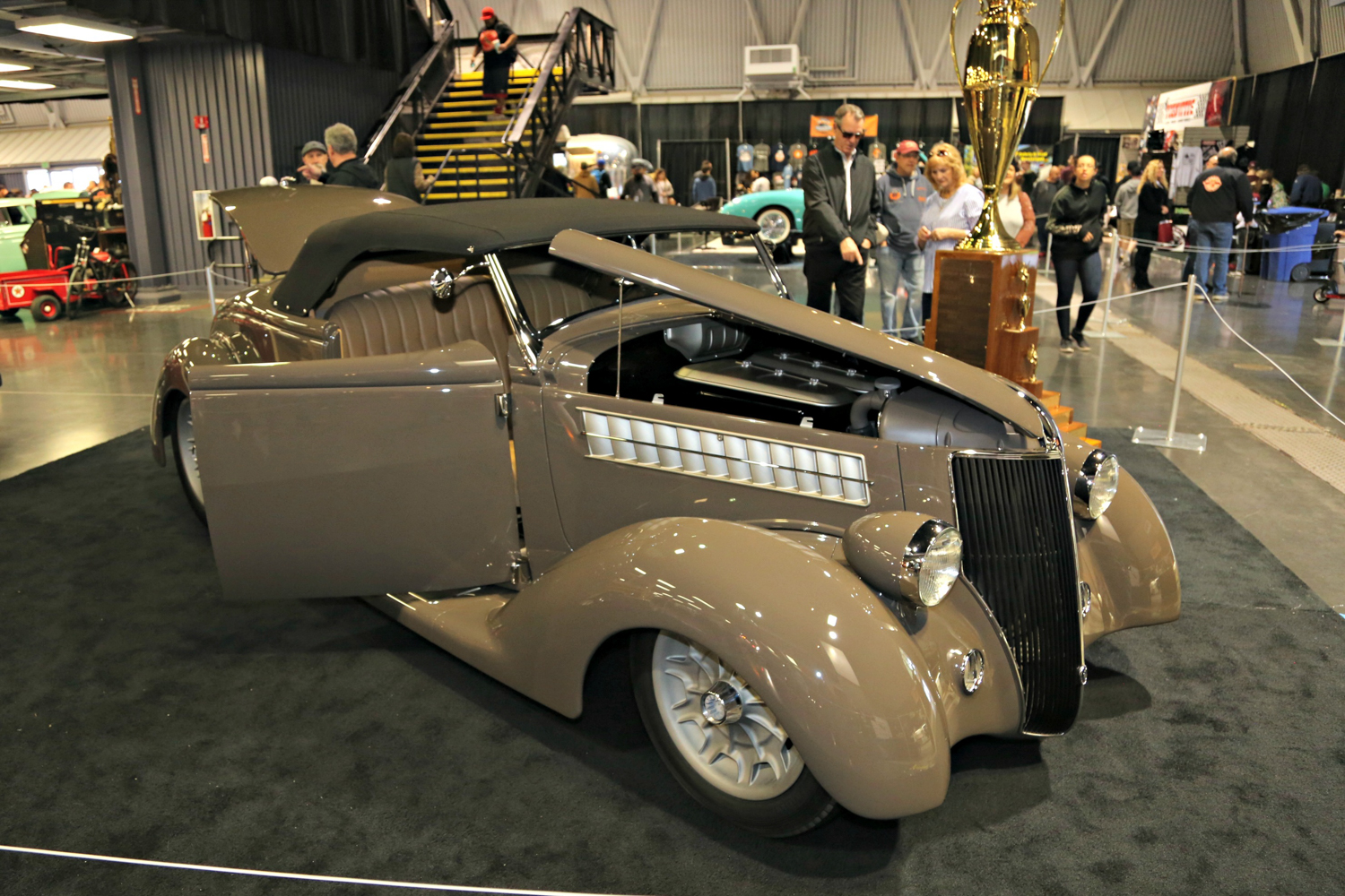 """1936 Ford """"3 Penny Roadster. America's Most Beautiful Roadster Award.George Poteet"""