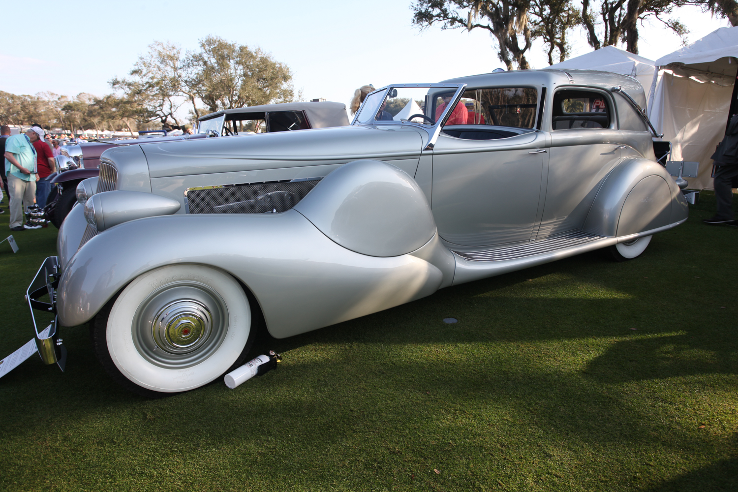 Mae West ordered this 1935 Duesenberg SJ-553 Town Car but changed her mind.  It was eventually buoght by Ethel Mars of the Mars Candy Company.
