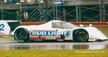 The Jaguar XJR-14 makes its race debut in the IMSA race at Miami (1992).