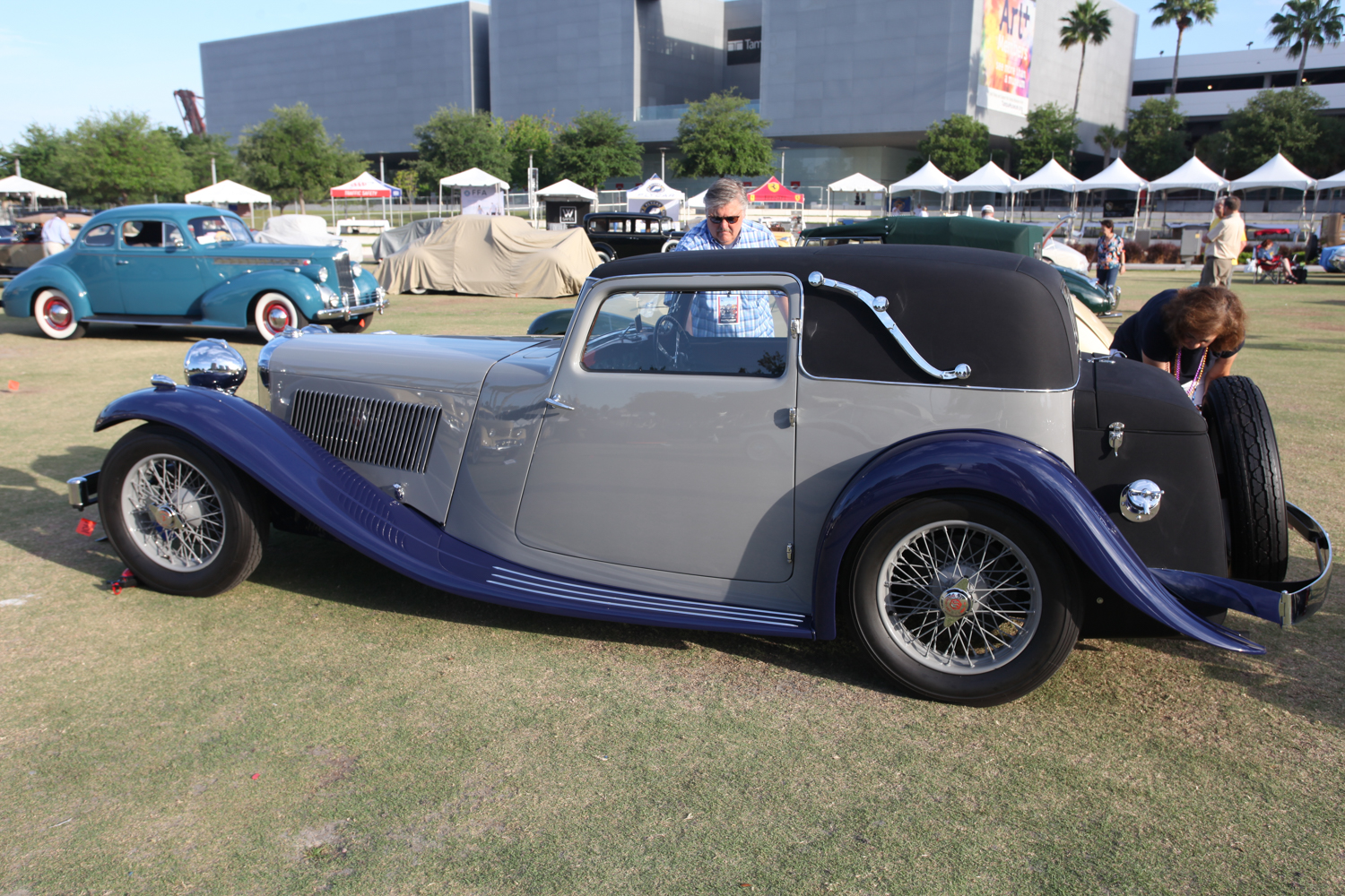 The Zavalas did a good job preparing their SS1 Coupe; it won Best of Show, Concours de Sport.