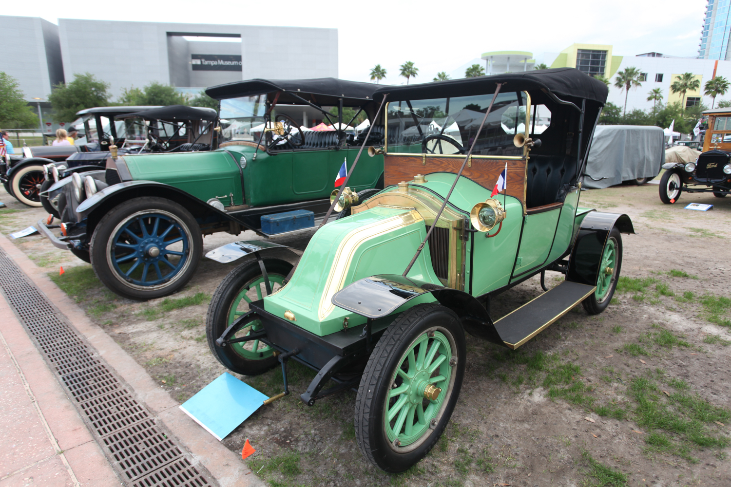 An appropriate car for a Florida concours, this 1913 Renault Model EK reminds me of a Manatee.