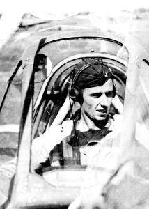 Major John Fitch in his P-51.