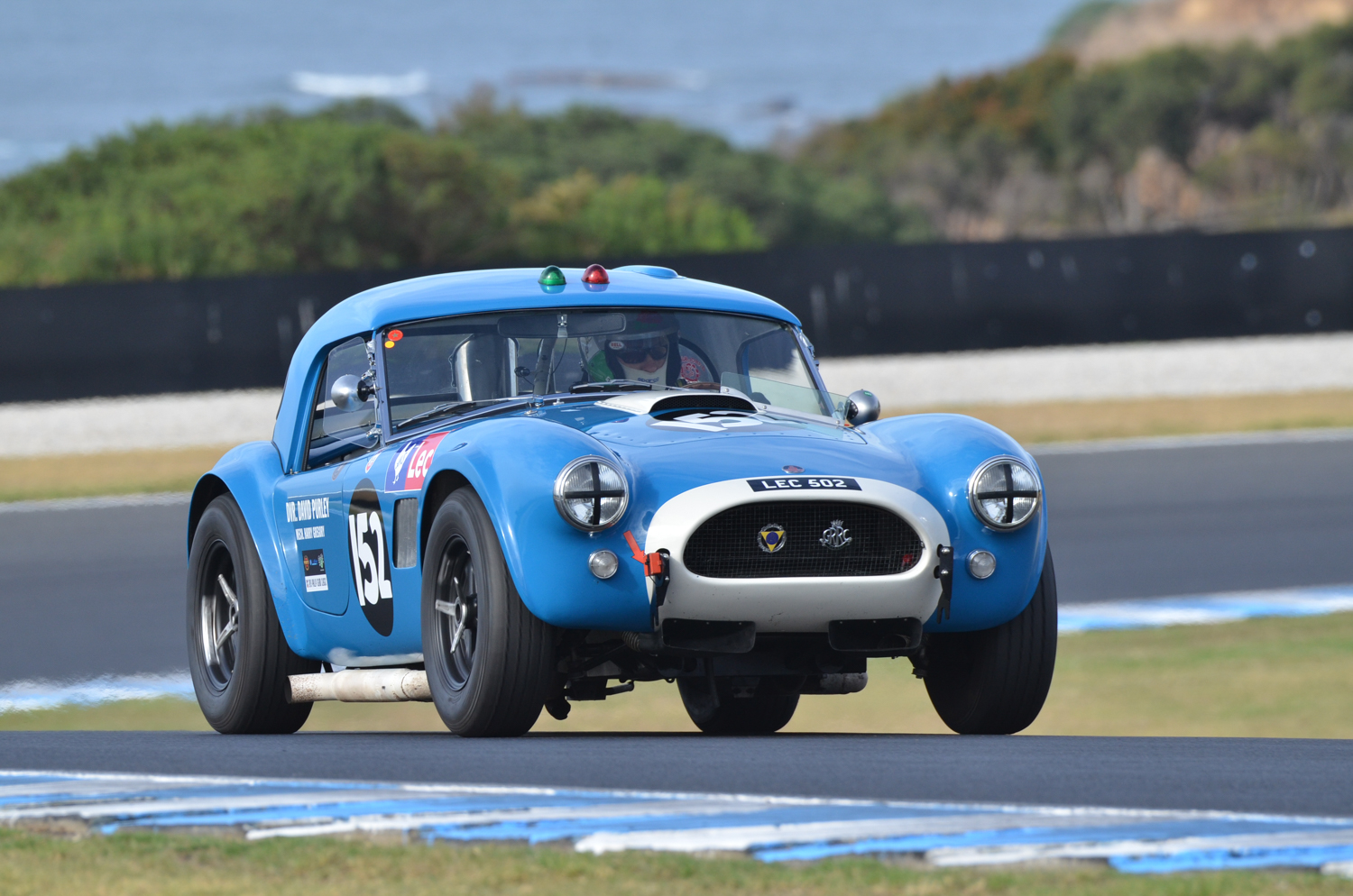 David Cooke visiting from the UK in his AC Cobra. Neil Hammond Photo.