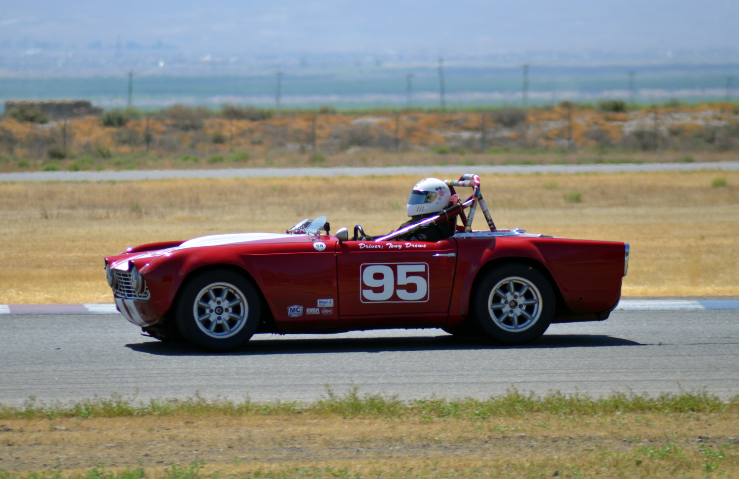 #95 Tony Drews, 1963 TR4, Best Lap: 2:13.889