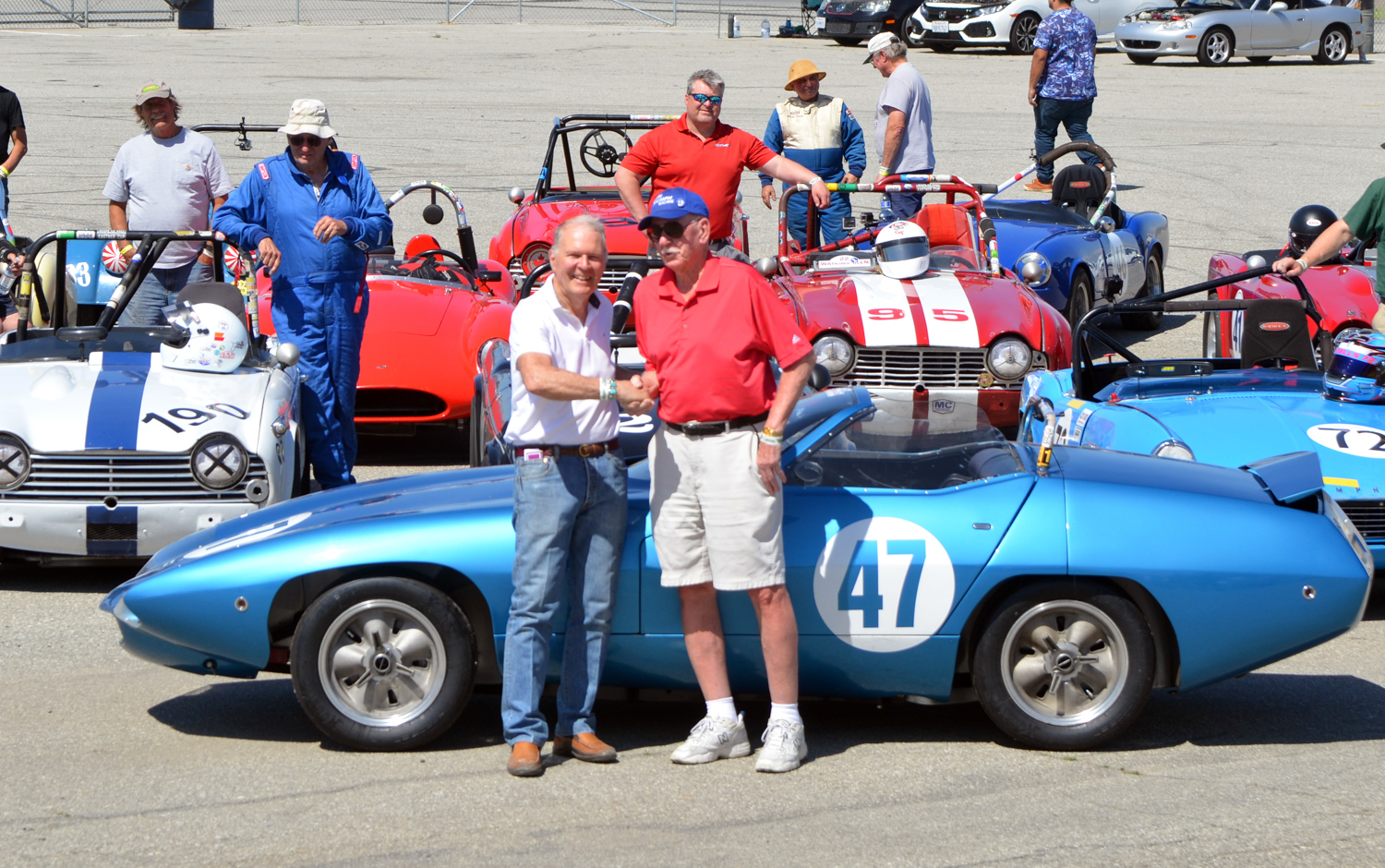 Peter Brock with Kas Kastner in front of the TR250K