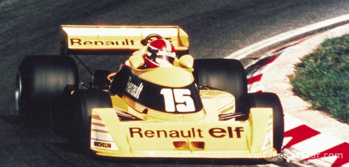 The Renault RS01 makes its Grand Prix debut (1977).
