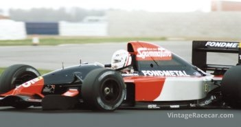 Gabriele Tarquini tests the AGS at Silverstone in 1991.Photo: Peter Collins