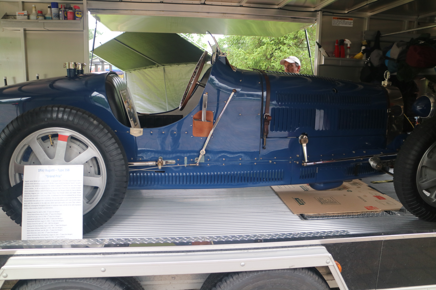 Thankfully, the trailer allowed for several views of this 1930 Bugatti Type 35B Grand Prix car.