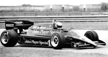 Active Suspension is tested for the first time on a Lotus 92 (1982).