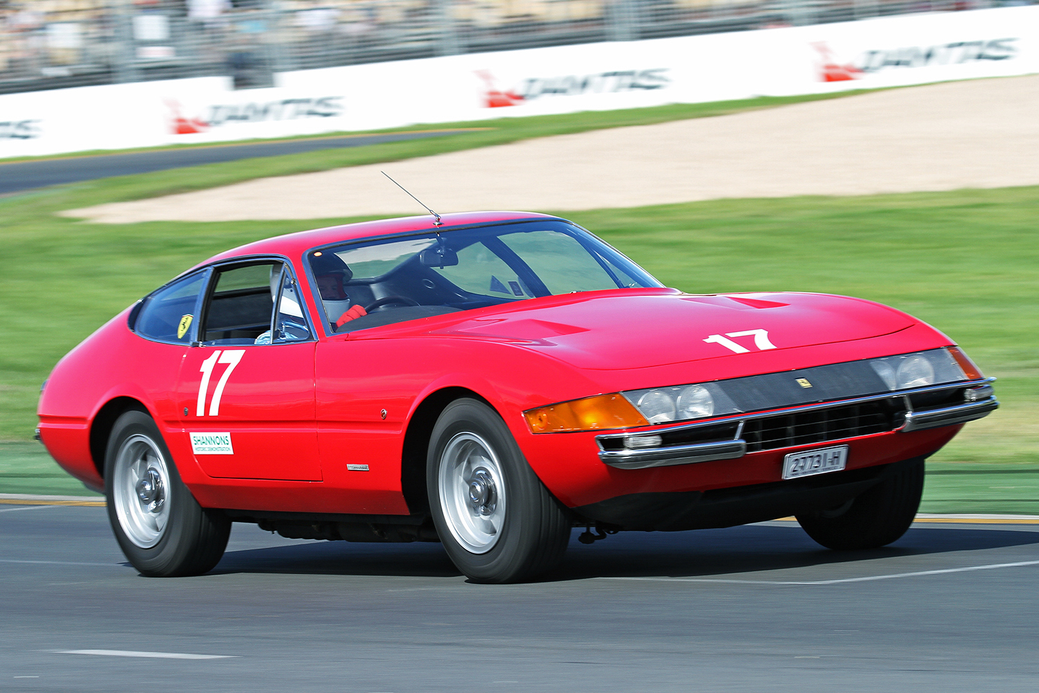 Keith Berryman demonstrates the timeless beauty of his Ferrari Daytona. PETER ELLENBOGEN