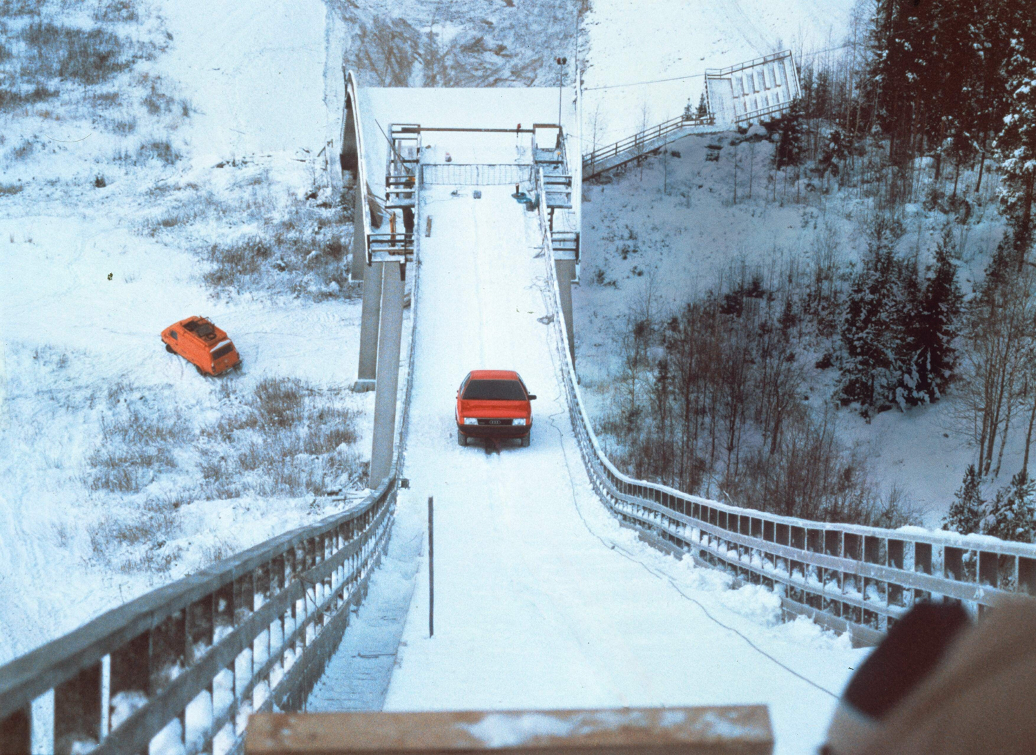 Cool head for heights – Demuth driving a 100 quattro