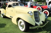 1936 Auburn 852 Speedster owned by Deidre and Walt Bender.