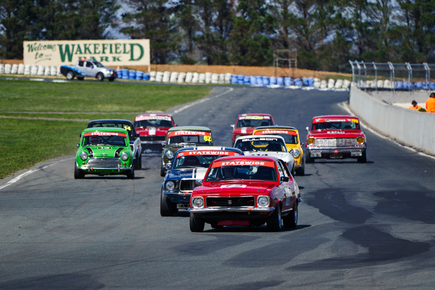 Paul Tierney leading the Group N pack in his GTR XU-1. Seth Reinhardt Photo. Seth Reinhardt
