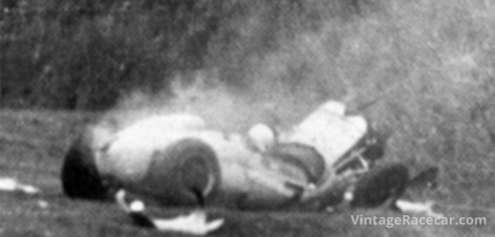 Stirling Moss has a career ending crash at Goodwood (1962).