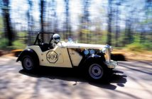 Dan Leonard and his 1953 MG-TD.Photo: jay Texter