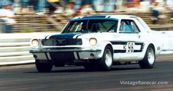 Bob Cox at speed in his 1966 Ford Mustang.Photo: Steve Oom