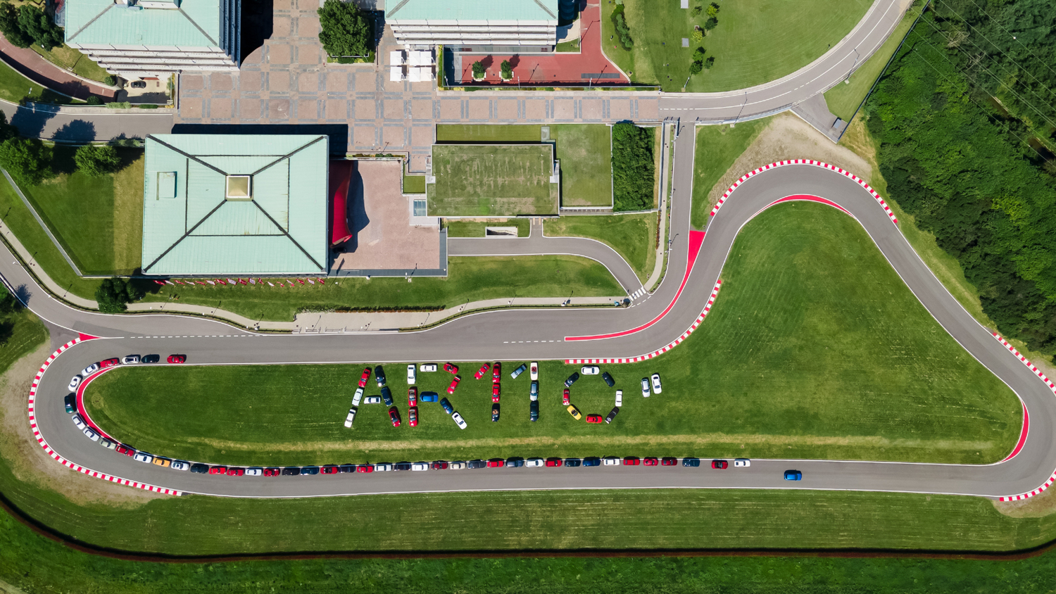 Fans gather at the Alfa Romeo Museum in Arese, Italy, to celebrate the brand's 110th anniversary
