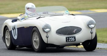 Bill Alexander driving Clive Smith's Austin-Healey 100S. Neil Hammond
