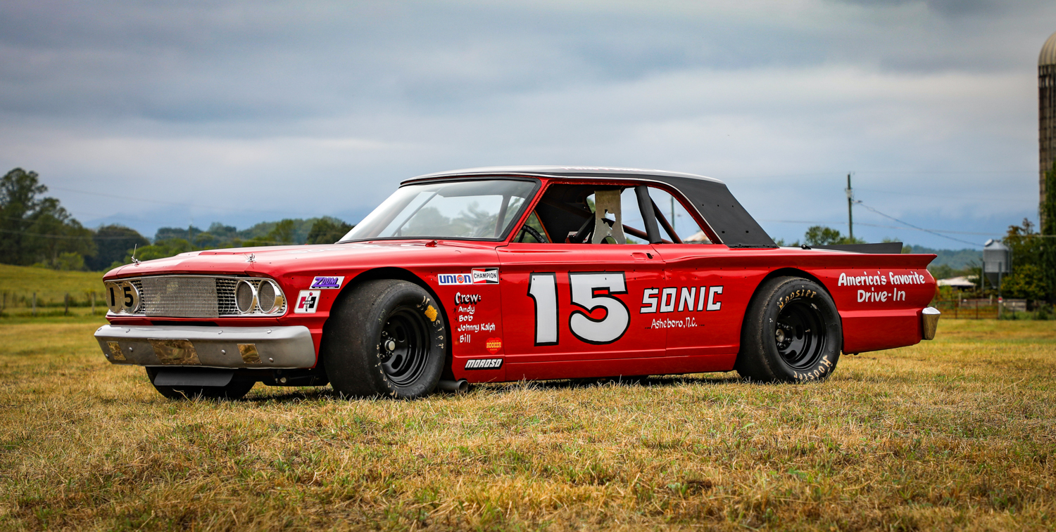 NASCAR legend Mike Powell and his race-winning 1963 Ford Fairlane