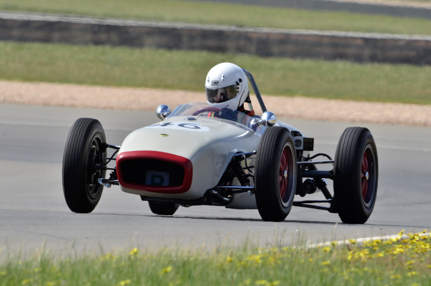 Rod Butcher's Lotus 18, running in the Vintage category.