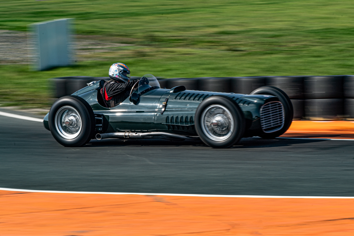 Rob Hall gives the new P15 V16 chassis no.IV its first shakedown at Blyton Race Track 7th September 2021 Simon John Owen